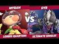 Smash Ultimate Tournament - Myran (Olimar) Vs. Dyr (Wolf) Ultimate Gamer SSBU Losers Quarters