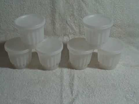 Vintage Tupperware Gelatin Jell-O Dessert Molds and Lids used Lot Of 6