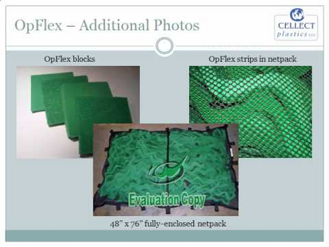 Quick-Fix Solution to Gulf Oil Spill OpFlex Biodegradable and Reusable Foam