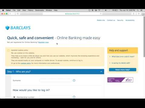 Barclays Bank Online Banking Login Instructions
