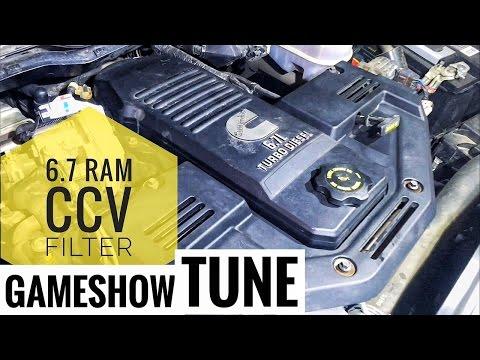 2012 6.7 Dodge Ram Diesel CCV Crankcase Filter code P04DB Change/Replace