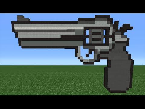 Minecraft Tutorial: How To Make A Gun Emoji