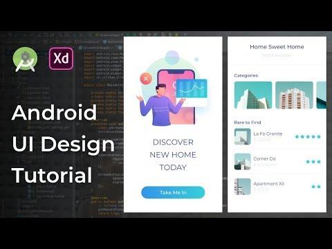Rent House UI Animation Adobe Xd to Android Studio Tutorial