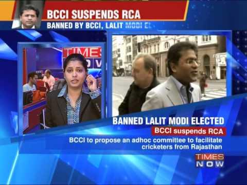 BCCI suspends Rajasthan Cricket Association on Lalit Modi's return