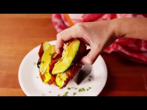 Bacon Weave Breakfast Tacos | Delish