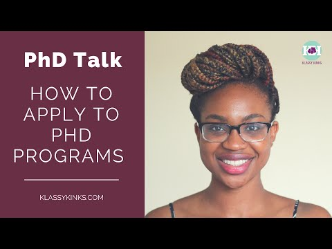 PhD Talk | How to Apply to PhD Programs