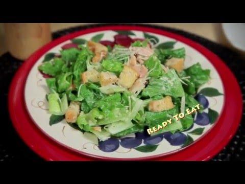 Honey Smoked Salmon Caesar Salad - Chef Keith Jones