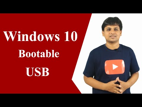 Create Windows 10 Bootable USB Pendrive