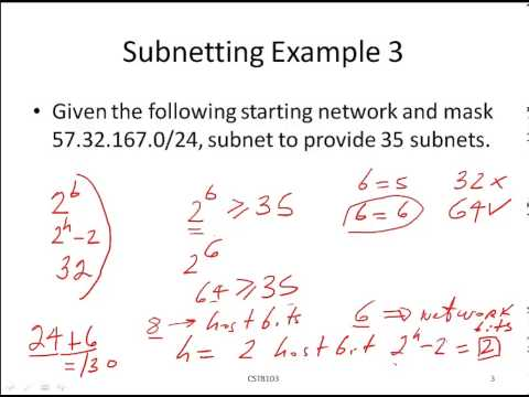 Subnetting by Example - 3 - Calculate the Network ID for specified Subnet #.