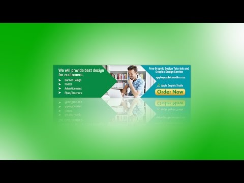 How to Design a Simple Banner Ads | Photoshop Tutorial for Beginners