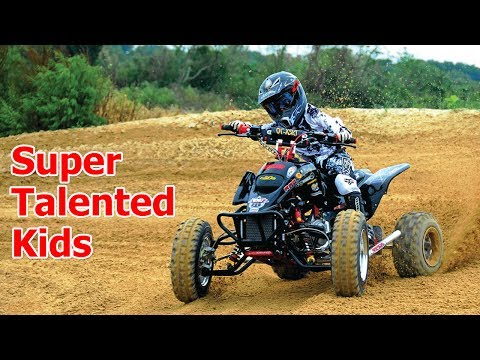 Super Talented Little Kids on Mini Quad (ATV) 2017