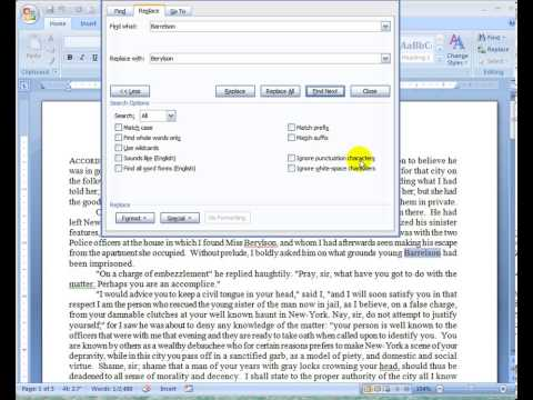 Word 2007 Lesson 17 Find and Replace