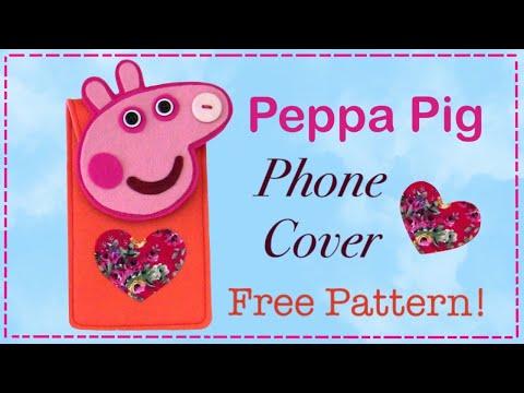 DIY Peppa pig phone case cover - Free Pattern
