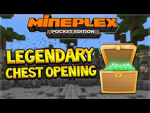 TRIPLE LEGENDARY ITEMS! Minecraft Pocket Edition - MineplexPE Epic Chests Opening! (Pocket Edition)