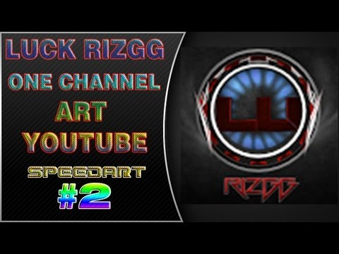 | #2 Youtube One Channel Art Speedart for Luck Rizgg - ProAidenHD |