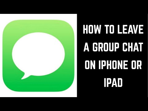 How to Leave Group Chat on Apple iPhone or iPad