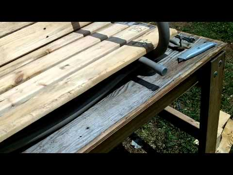 Porch swing from pallets part 2
