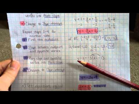 Finding the Centroid of a triangle algebraically