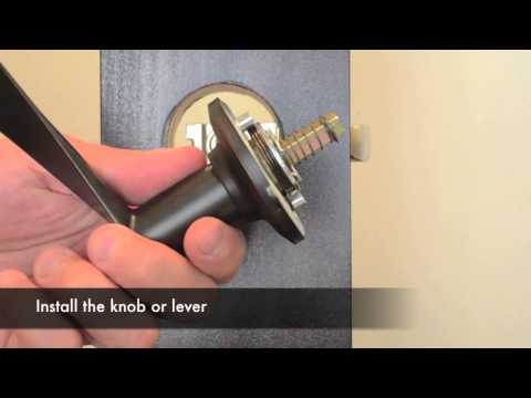 Yale Real Living Handleset and Interior Pack Installation
