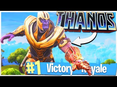 EPIC Killstreak with THANOS to Win the Game! - PS4 Fortnite