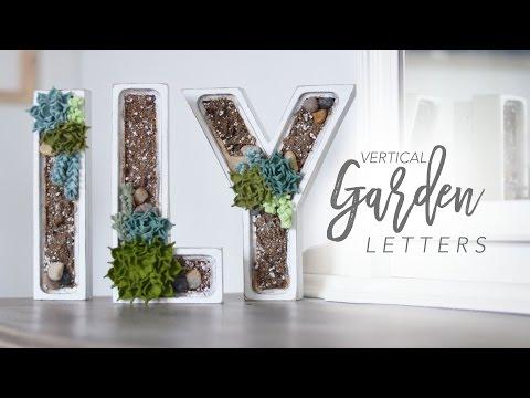 Faux Vertical Garden Letter | DIY Home Decor | chrstphrblk