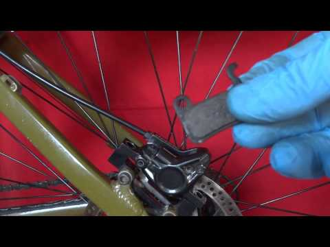 HOW TO CHANGE FIT NEW BRAKE PADS SHIMANO DEORE HYDRAULIC DISC BRAKES
