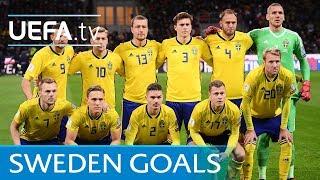 Sweden's top five European Qualifiers goals