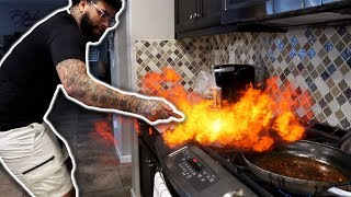 COOKING WITH THE BANKS FAMILY *GONE WRONG* Our House Almost Caught On FIRE!