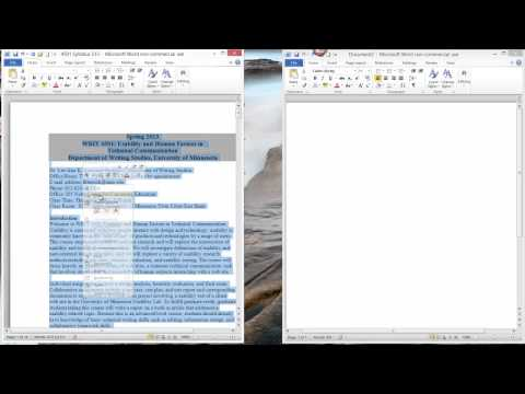 Microsoft Word Select All Tutorial