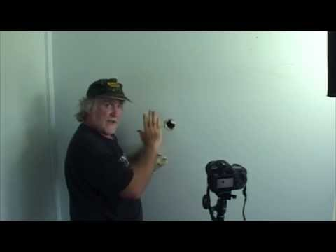 How to patch a hole from door knob being pushed through wall. Using the most basic procedure! Easy