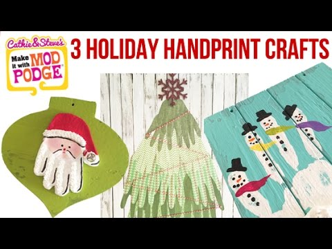 How To Make 3 Holiday Handprint Crafts