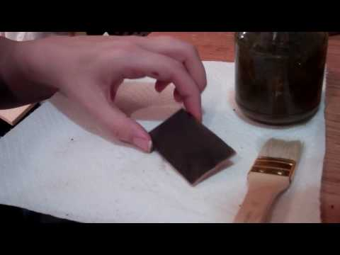 HOW TO MAKE BLACK LEATHER DYE AT HOME