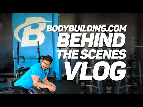 *BEHIND THE SCENES VLOG* alpha m. goes to Bodybuilding.com