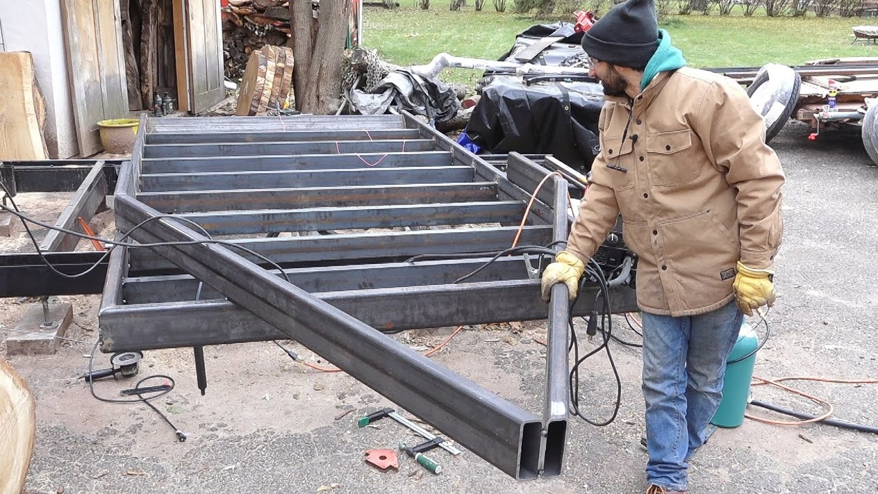 Frame & Tongue Layout - Urban Logging Trailer Build Pt 2