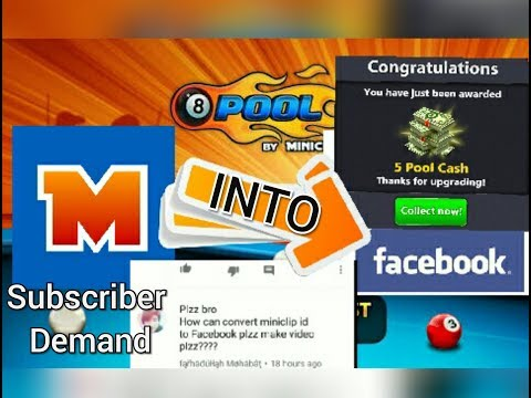 8 ball pool-Convert Miniclip Id into Facebook Account || Detail video ||
