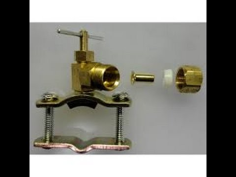 Replace a saddle valve in 5 minutes to fix, repair pipe with a pin valve