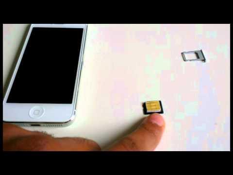 Micro Sim Karte zur Nano Sim Karte schneiden für iphone 5 - Nano Sim Karte selbst machen