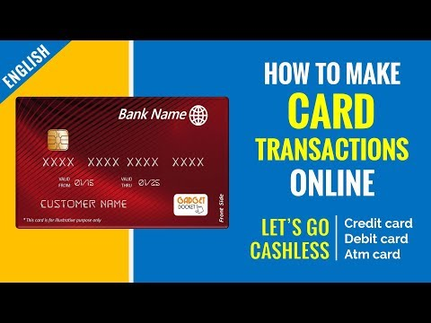 How to Make Online Payments in India | Using Credit/Debit/ATM cards | English Tutorial