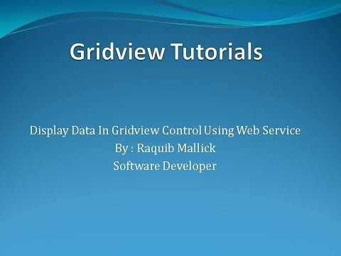 Bind Data In Gridview Using Web Service