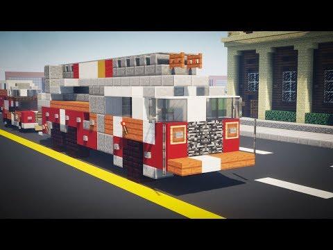 Minecraft NYC FDNY Aerial Ladder Fire Truck Tutorial