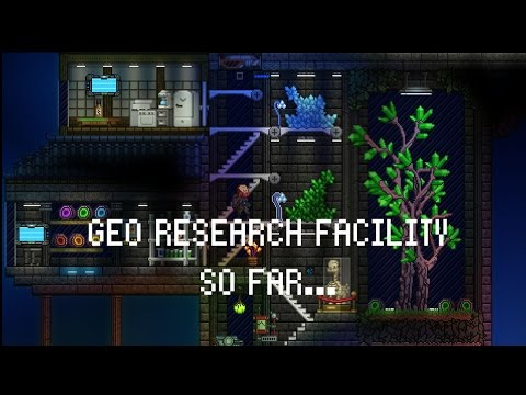 Ocean Planet Geo Research Facility build progress (Starbound 1.05)