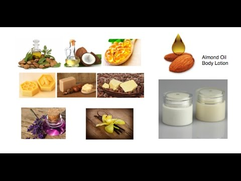 Homemade Lotion with Natural Ingredients. DIY Almond Oil homemade Natural Lotion