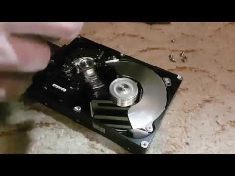 Inside faulty Hard drive