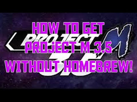 How To: Get Project M 3.5 on your Wii/WiiU WITHOUT Homebrew!