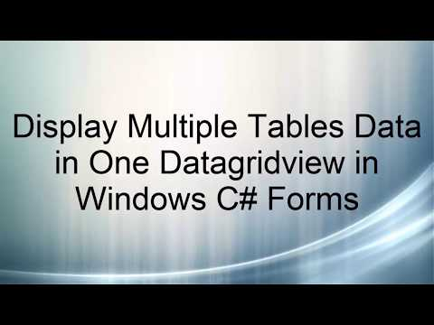 Fill Gridview with two Tables - In C# Windows forms