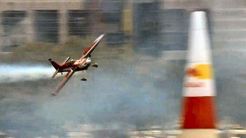 Russian Pilot Attacks A Gate, Red Bull Air Race