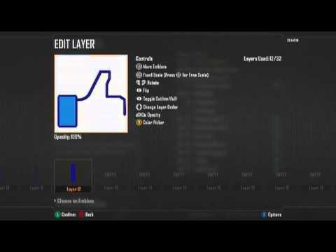 Black Ops 2 - Facebook Like Button - Emblem Tutorial #52o