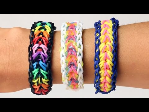 Rainbow Loom English - FEATHER - Loom Bands, easy, how to, DIY