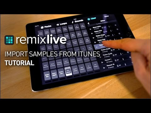How to import samples from iTunes | Remixlive