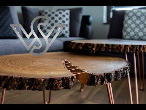 how to build a modern live edge corset coffee table furniture